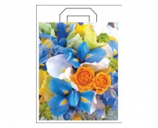 """Пакет с петлевой ручкой (34*41+3) """"Цветы"""" ХВГ (25 шт)"""