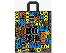 """Пакет с петлевой ручкой  ср  """"Рок159""""(40х40+3) 85мк (25 шт)"""