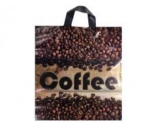 """Пакет с петлевой ручкой  ср п """"Кофе в зернах""""(38х42+3) 90мк ДПА (50 шт)"""
