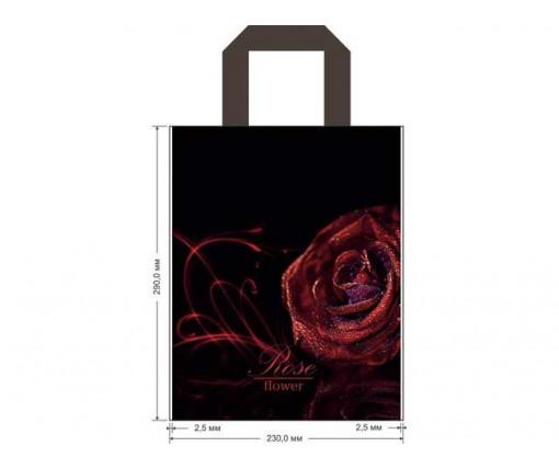 """Пакет ламинированный с петлевой ручкой м """"Роза в росе"""" 1037 ДПА (50 шт)"""