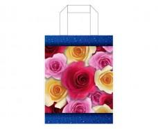 Пакет ламинированный с петлевой ручкой м Роза