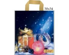Пакет с петлевой ручкой  (30*34+3\90мк) Подарки Джерела (50 шт)