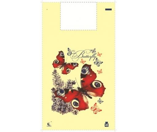 Пакет майка полиэтиленовая 34*58 Бабочка (5ветов)''Комсерв'' (100 шт)