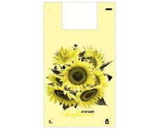 Пакет майка полиэтиленовая 34*58 Подсолнух (5цветов)  ''Комсерв'' (100 шт)