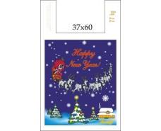 Полиэтиленовый Пакет (37+16*60\35мк) Новый год Джерела (100 шт)