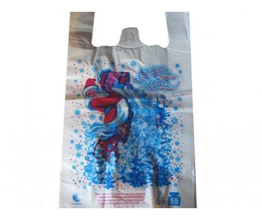 Пакет майка полиэтиленовая (тип FA)  30*55 HГ Дед Мороз  ''Комсерв'' (100 шт)