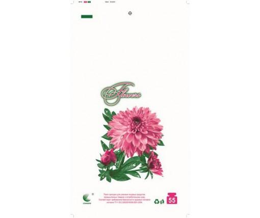 Пакет майка полиэтиленовая (тип FA)  30*55 Цветы  ''Комсерв'' (100 шт)