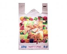 Пакет Майка п\э(30+2х8)х50) Девушка с фруктами  Кривой Рог (250 шт)