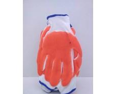 Хозяйственные перчатки Залитая Оранжевая (13кл/3н) (12 пар)