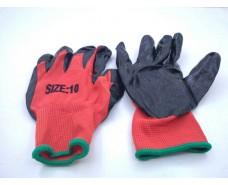Хозяйственные перчатки Залитая Черная (13кл/3н) (10 пар)