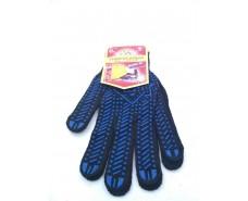 Хозяйственные перчатки плотные черная (10кл/3н) (10 пар)