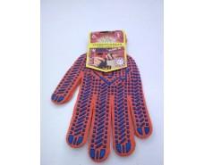 Хозяйственные перчатки плотные оранжевая (10кл/3н) (10 пар)