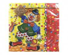 Салфетка для декора (ЗЗхЗЗ, 20шт) Luxy  Веселый клоун (025) (1 пач)