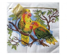 Салфетка декор (ЗЗхЗЗ, 20шт) Luxy  Попугай (006) (1 пач)
