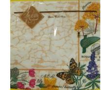 Салфетка для декора (ЗЗхЗЗ, 20шт) Luxy  Ботанический сад (663) (1 пач)