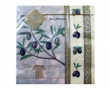 Дизайнерская салфетка (ЗЗхЗЗ, 20шт) Luxy  Грецкая оливка (607) (1 пач)