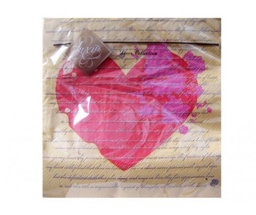 Дизайнерская салфетка (ЗЗхЗЗ, 20шт) Luxy  Классическая любовь (143) (1 пач)