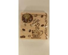Дизайнерская салфетка (ЗЗхЗЗ, 20шт) Luxy  Кофе(170) (1 пач)