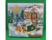 Новогодняя салфетка (ЗЗхЗЗ, 20шт) LuxyНГВеселые снеговики     (906) (1 пачка)