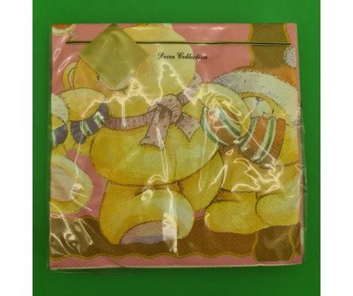 Новогодняя салфетка (ЗЗхЗЗ, 20шт) LuxyНГ Едем праздновать  (209) (1 пач)