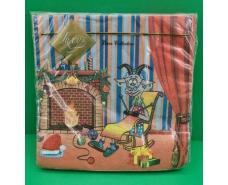 Праздничная салфетка (ЗЗхЗЗ, 20шт) LuxyНГ Коза  (067) (1 пач)