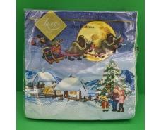 Салфетка (ЗЗхЗЗ, 20шт) LuxyНГ Козаческое Рождество (850) (1 пач)