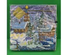 Праздничная салфетка (ЗЗхЗЗ, 20шт) LuxyНГ Накануне рождества  (004) (1 пач)