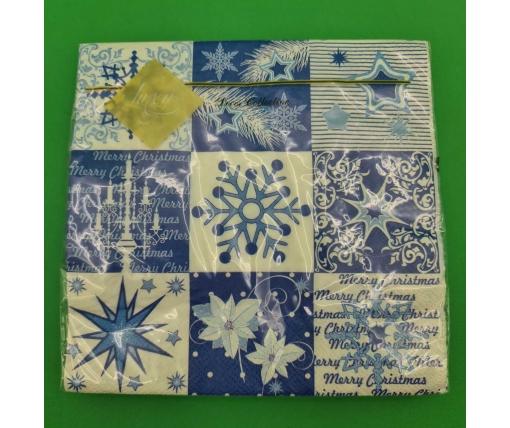 Дизайнерская салфетка (ЗЗхЗЗ, 20шт) LuxyНГ Новогодний коллаж (838) (1 пач)