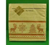 Праздничная салфетка (ЗЗхЗЗ, 20шт) LuxyНГ Новогодний рушничок (307) (1 пач)