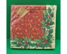 Салфетка (ЗЗхЗЗ, 20шт) LuxyНГ Новогодняя классика (835) (1 пач)