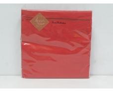 Салфетка декор (ЗЗхЗЗ, 20шт) Luxy Красная (3-7) (1 пачка)