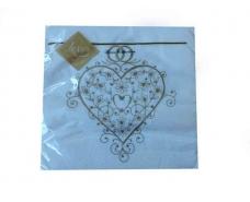 Свадебная салфетка (ЗЗхЗЗ, 20шт) Luxy  Волшебное сердце (802) (1 пачка)