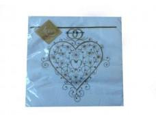 Свадебная салфетка (ЗЗхЗЗ, 20шт) Luxy  Волшебное сердце (802) (1 пач)