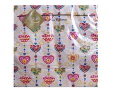 Свадебная салфетка (ЗЗхЗЗ, 20шт) Luxy  Сладкое сердце (308) (1 пачка)