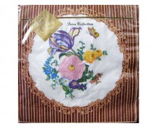 Салфетка декор (ЗЗхЗЗ, 20шт) Luxy  Цветочный медальон (077) (1 пач)