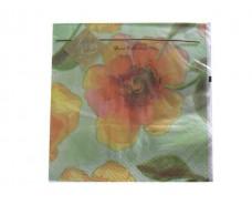 Дизайнерская салфетка (ЗЗхЗЗ, 20шт) Luxy  Цветочный цвет (709) (1 пач)