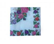 Красивая салфетка (ЗЗхЗЗ, 20шт)  La Fleur Бабушкина скатерть (708) (1 пач)