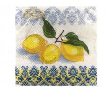 Салфетка декор (ЗЗхЗЗ, 20шт)  La Fleur Три лимона (049) (1 пач)