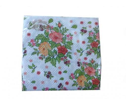 Красивая салфетка (ЗЗхЗЗ, 20шт)  La Fleur Шиповник (008) (1 пач)
