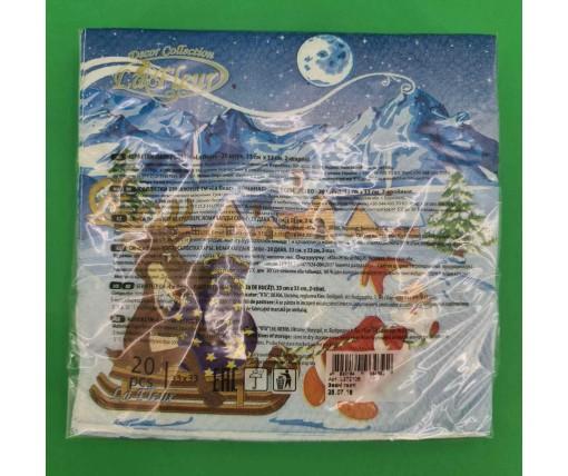 Новогодняя салфетка (ЗЗхЗЗ, 20шт)  La FleurНГ Званые гости (113) (1 пач)