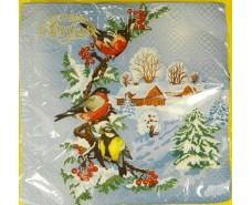 Праздничная салфетка (ЗЗхЗЗ, 20шт)  La FleurНГ Зимний день (115) (1 пач)