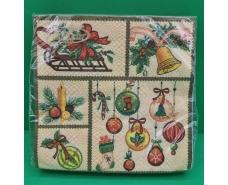 Новогодняя салфетка (ЗЗхЗЗ, 20шт)  La FleurНГ Праздничный декор  (712) (1 пач)
