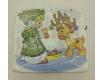 Дизайнерская салфетка (ЗЗхЗЗ, 20шт)  La FleurНГ Рождественский оленёнок (134) (1 пач)