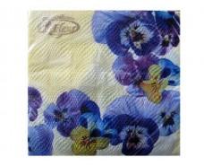 Красивая салфетка (ЗЗхЗЗ, 20шт)  La Fleur  Анютки  (010) (1 пач)