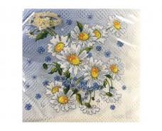 Салфетка декор (ЗЗхЗЗ, 20шт)  La Fleur  Волшебная ромашка (014) (1 пач)