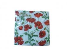 Дизайнерская салфетка (ЗЗхЗЗ, 20шт)  La Fleur  Полотно из маков (107) (1 пач)