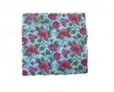 Праздничная салфетка (ЗЗхЗЗ, 20шт)  La Fleur  Полотно из роз (908) (1 пач)