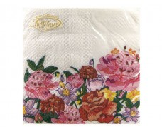 Салфетка декор (ЗЗхЗЗ, 20шт)  La Fleur  Цветущие пионы (012) (1 пач)