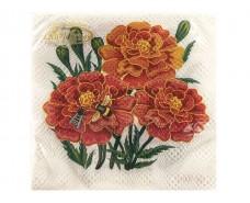 Праздничная салфетка (ЗЗхЗЗ, 20шт)  La Fleur  Чорнобривцi (025) (1 пач)