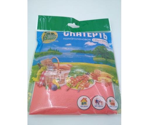 Одноразовая Скатерть (120x200)  Супер торба  красная (1 шт)